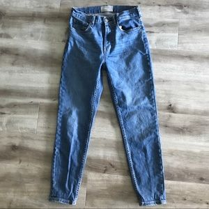 Everlane High-Rise Skinny Jean Sz 27 Medium Wash